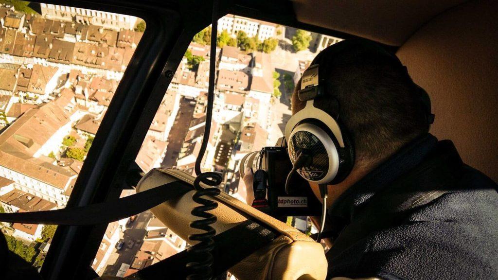 Helikopter Fotoshooting